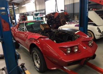 1976 Red Corvette