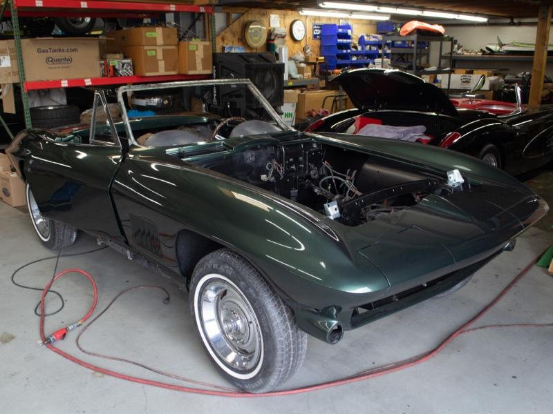 1967 green convertible restoration 1