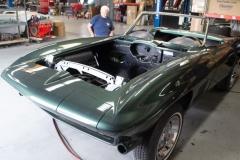 1967 green convertible restoration 3