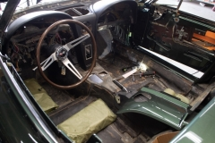 1967 green convertible restoration 4