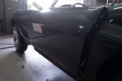 1967 green convertible restoration 6