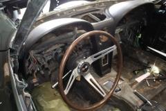 1967 green convertible restoration 8