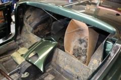 1967 green convertible restoration 9