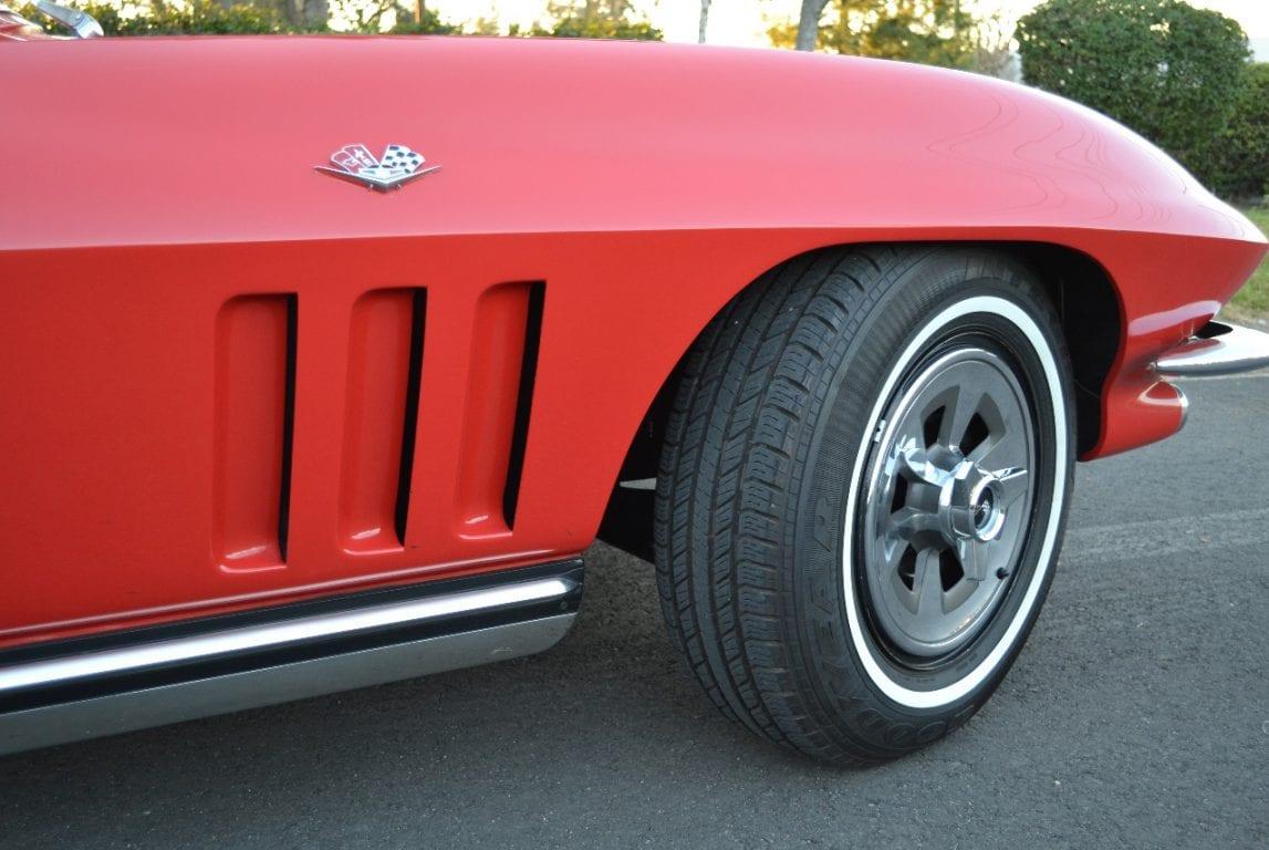 1965 rally red l79 corvette convertible 33