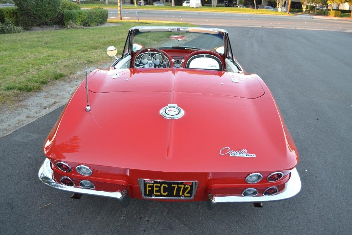 1965 rally red l79 corvette convertible 36