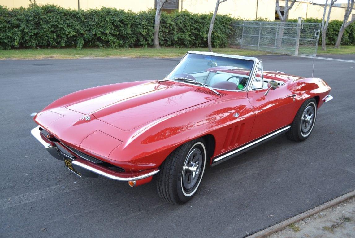 1965 rally red l79 corvette convertible 38
