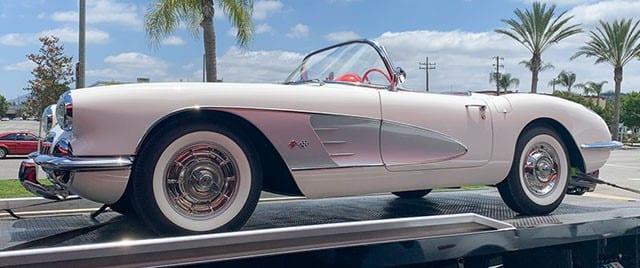 1958 White Corvette Convertible
