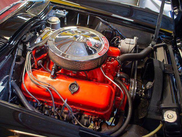 1966 black corvette l36 convertible engine