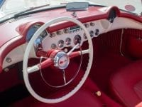 1955 white corvette v8 0673