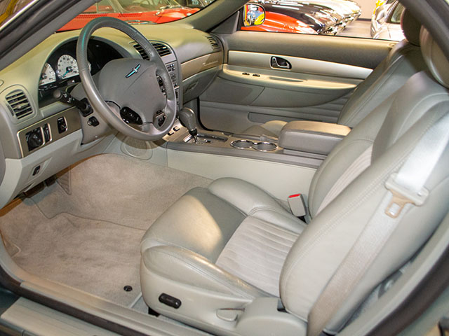 2004 green ford thunderbird pacific coast edition interior