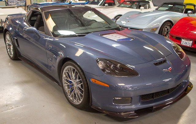2011 blue zr 1 exterior