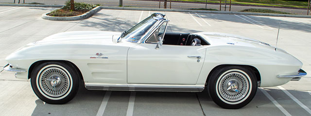 1964 white corvette fuelie bloomington gold coming