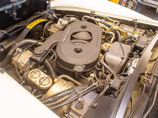 1982 white silver engine