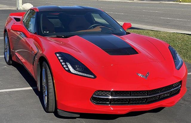 2015 Red Corvette