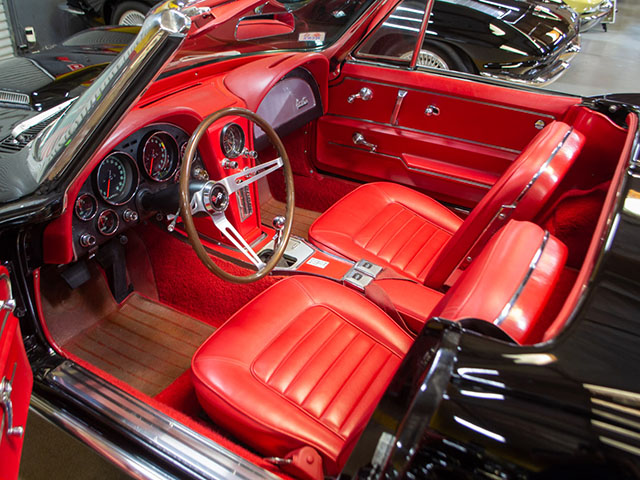 1966 black corvette l36 convertible interior