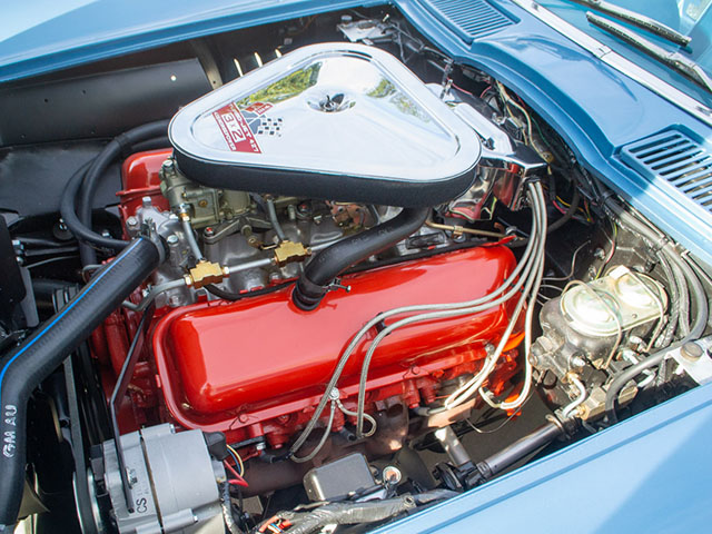 1967 blue corvette l71 coupe engine