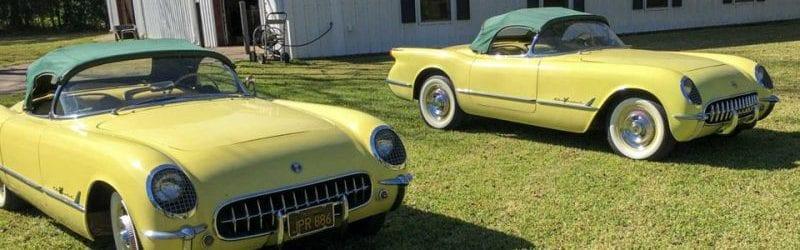 consecutive twin 1955 corvettes