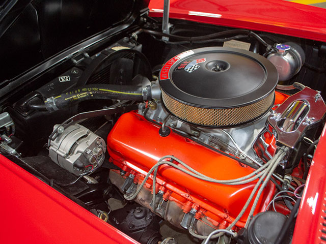 1965 red 396 425 corvette convertible engine