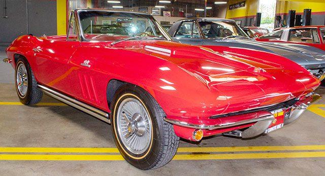1965 red 396 425 corvette convertible exterior