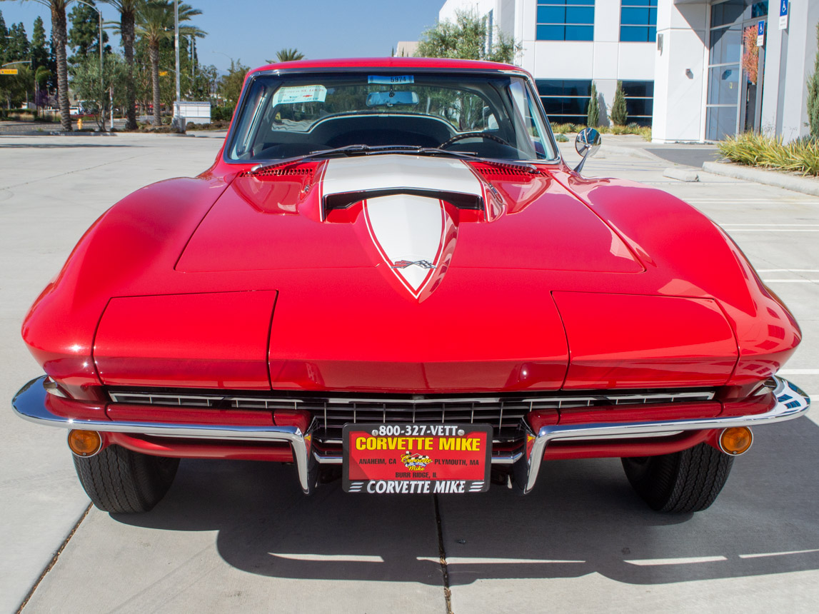 1967 rally red corvette l71 427 435 coupe 0673