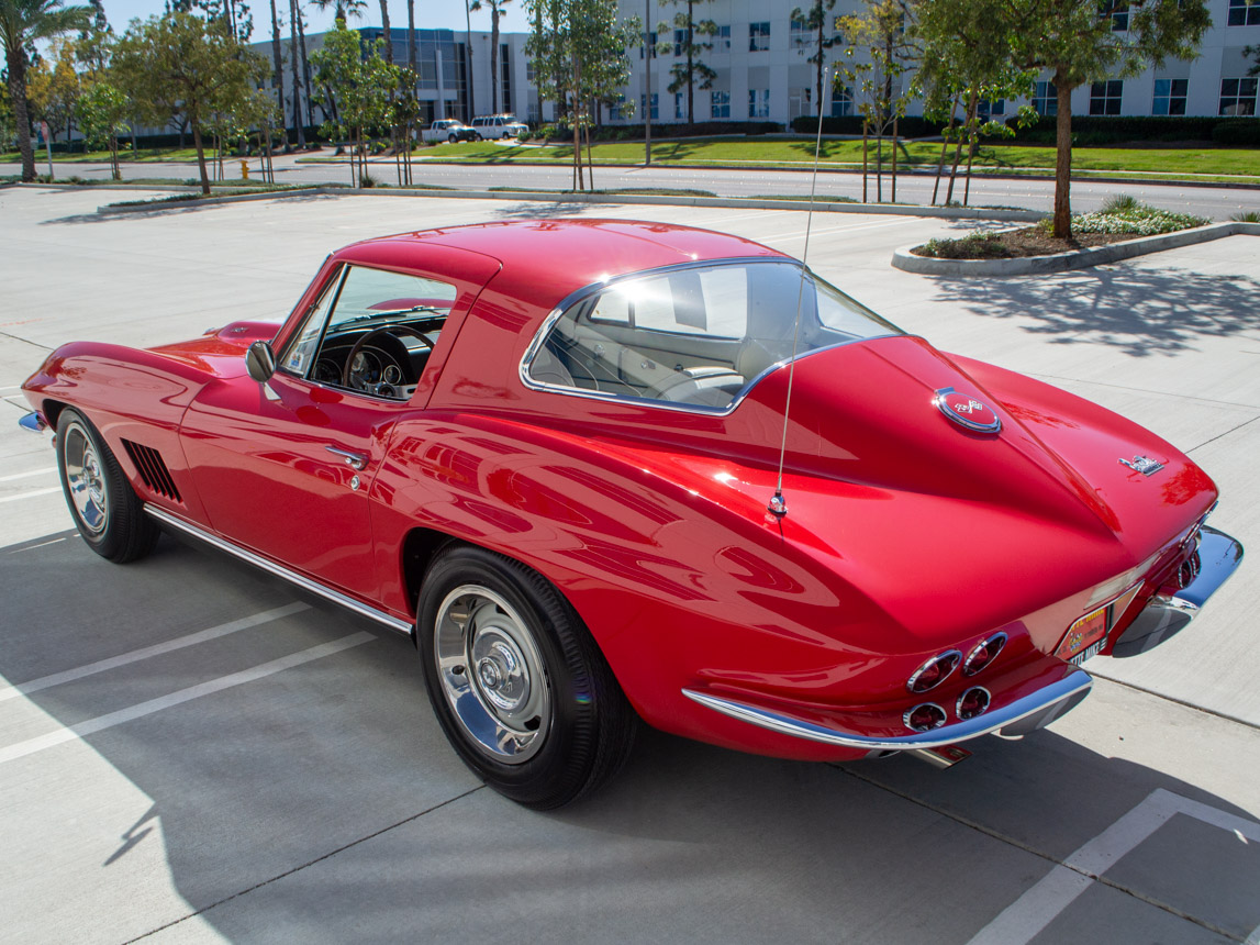 1967 rally red corvette l71 427 435 coupe 0676