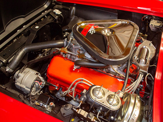 1967 rally red corvette l71 427 435 coupe engine