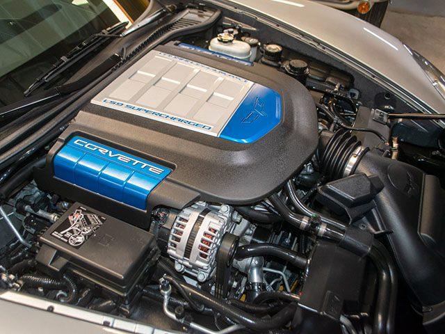 2011 silver corvette zr 1 engine