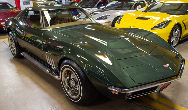1969 green corvette l71 coupe exterior