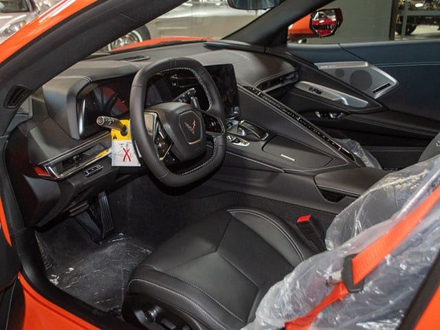 2020 Sebring Orange Z51 Corvette Interior