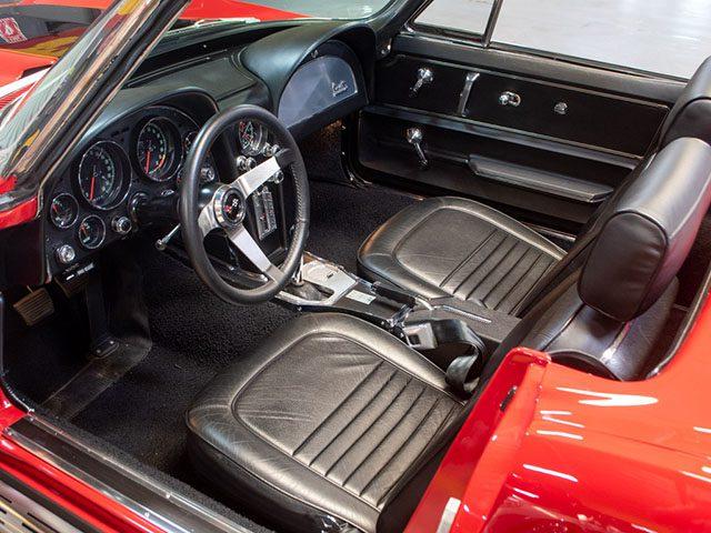 1967 red corvette l36 convertible interior