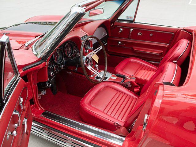 1967 red corvette l36 convertible interior_1