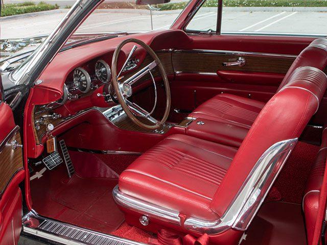 1963 black thunderbird coupe interior