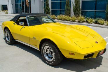 1975 Yellow Corvette Convertible L48 0754