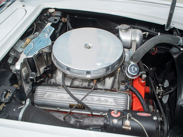 1962 White Corvette 340hp Engine