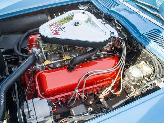 1967 Blue Corvette L71 Coupe Engine