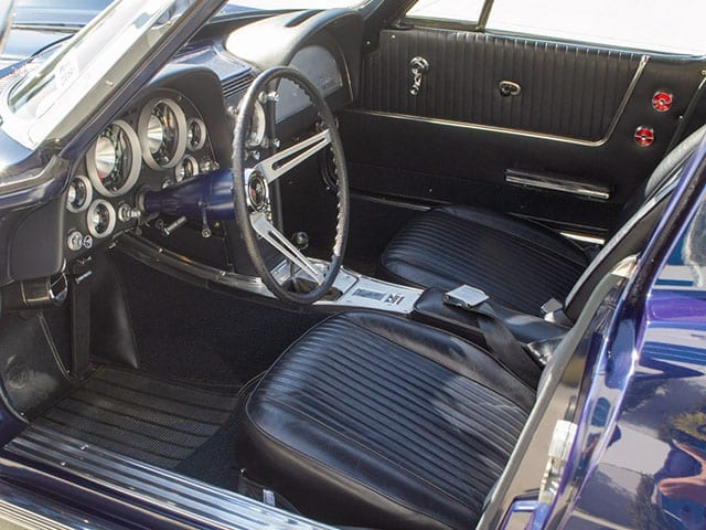 1963 Blue Corvette Split Window Coupe Interior 1