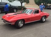 1967 red corvette 400ho ac 1