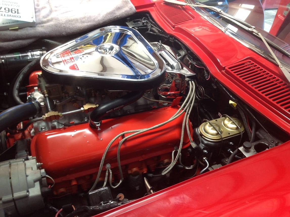 1967 red corvette 400ho ac 4