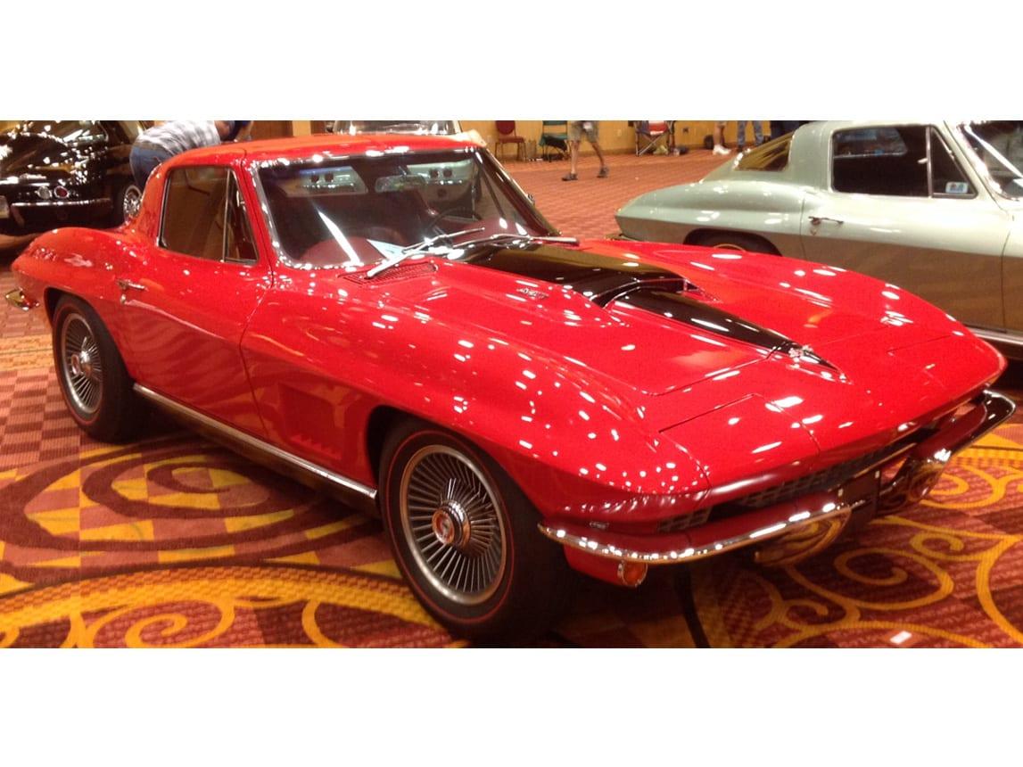 1967 red corvette 400ho ac 9
