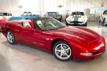 2002 magnetic red corvette convertible 1 2