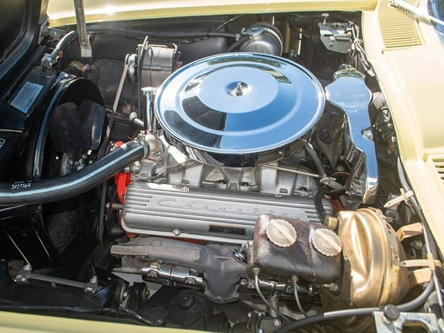 1965 yellow corvette convertible engine 1