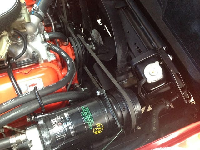 1967 red corvette 400ho ac engine 1