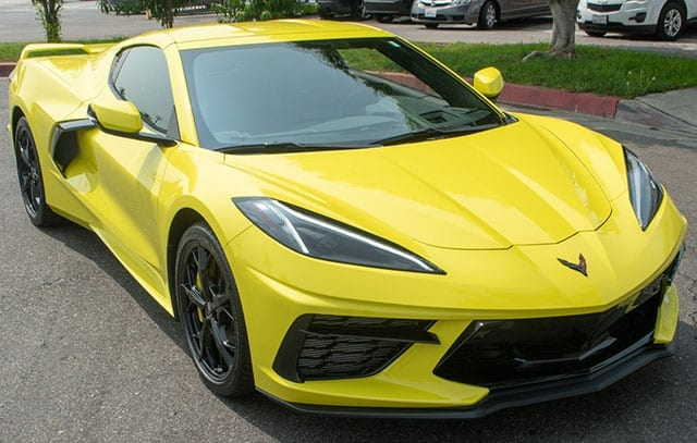 2020 c8 accelerate yellow corvette coupe exterior 1