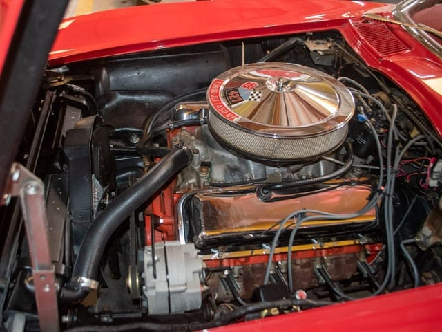 1965 red corvette convertible engine 1