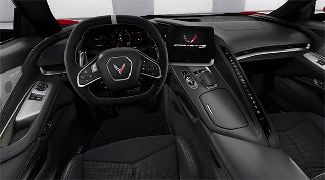 2008 red corvette coupe interior 1