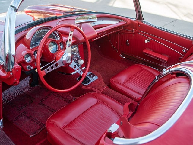 1962 red corvette 340hp interior 1