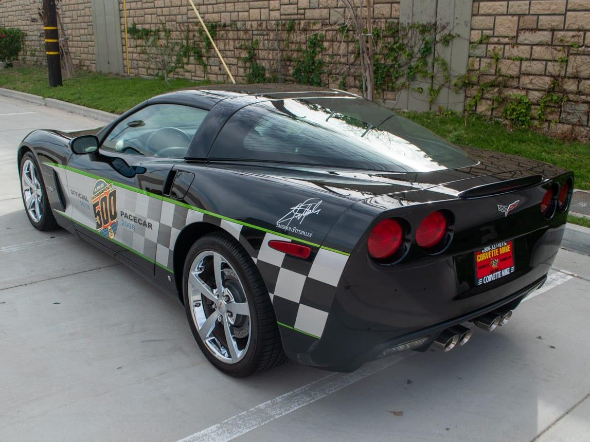 2008 Black Corvette Indianapolis 500 Pace Car Coupe 0562 Copy