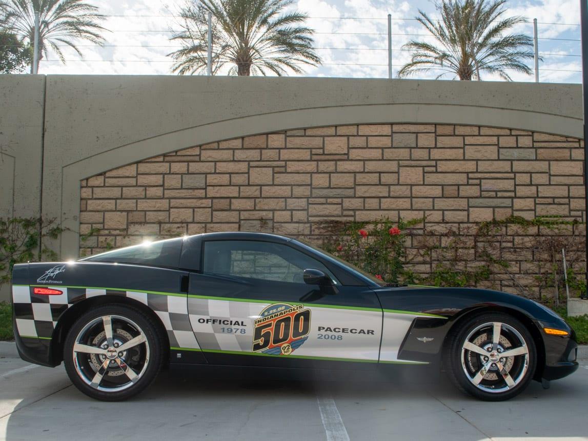 2008 Black Corvette Indianapolis 500 Pace Car Coupe 0580 Copy