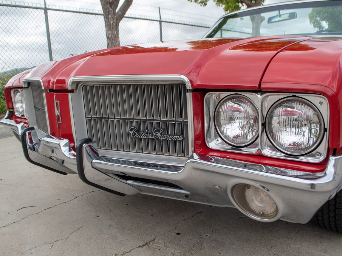 1971 Red Oldsmobile Cutlass Convertible 0995
