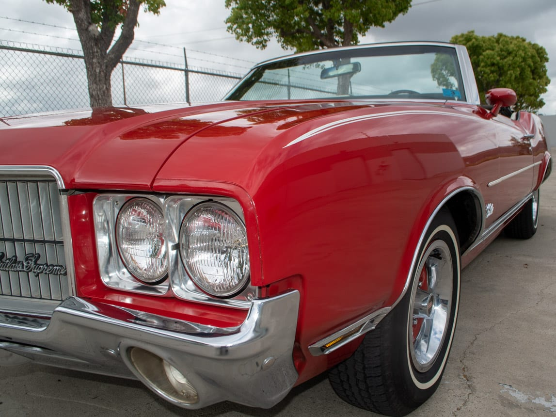 1971 Red Oldsmobile Cutlass Convertible 0996